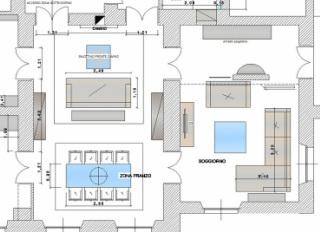 Come progettare la zona giorno una casa per te - Disposizione stanze in una casa ...